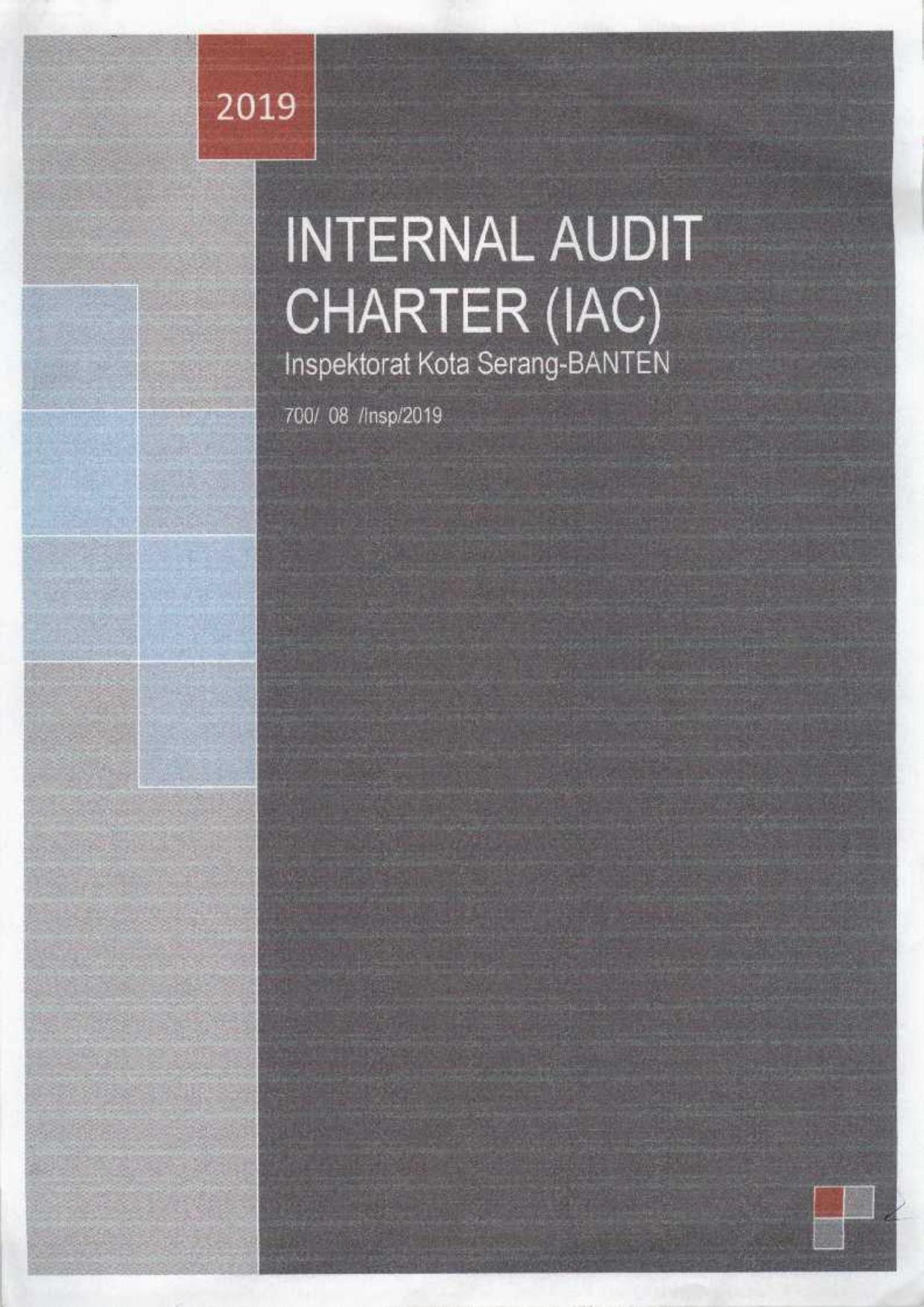 Sosialisai Internal Audit Charter IAC Inspektorat Kota Serang